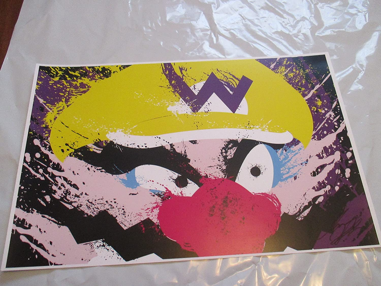 WARIO 11' By 17' Limited Edition Print Signed By Chris Huffman, W/coa WARIO 11 By 17 Limited Edition Print Signed By Chris Huffman