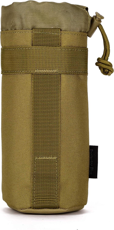 Yakmoo Bolsa de Botella de Agua Impermeable Estilo Militar Táctico 900D Nylon Soporte/Portador de Botella Molle Sistema Titular de Botella de Agua al Aire Libre