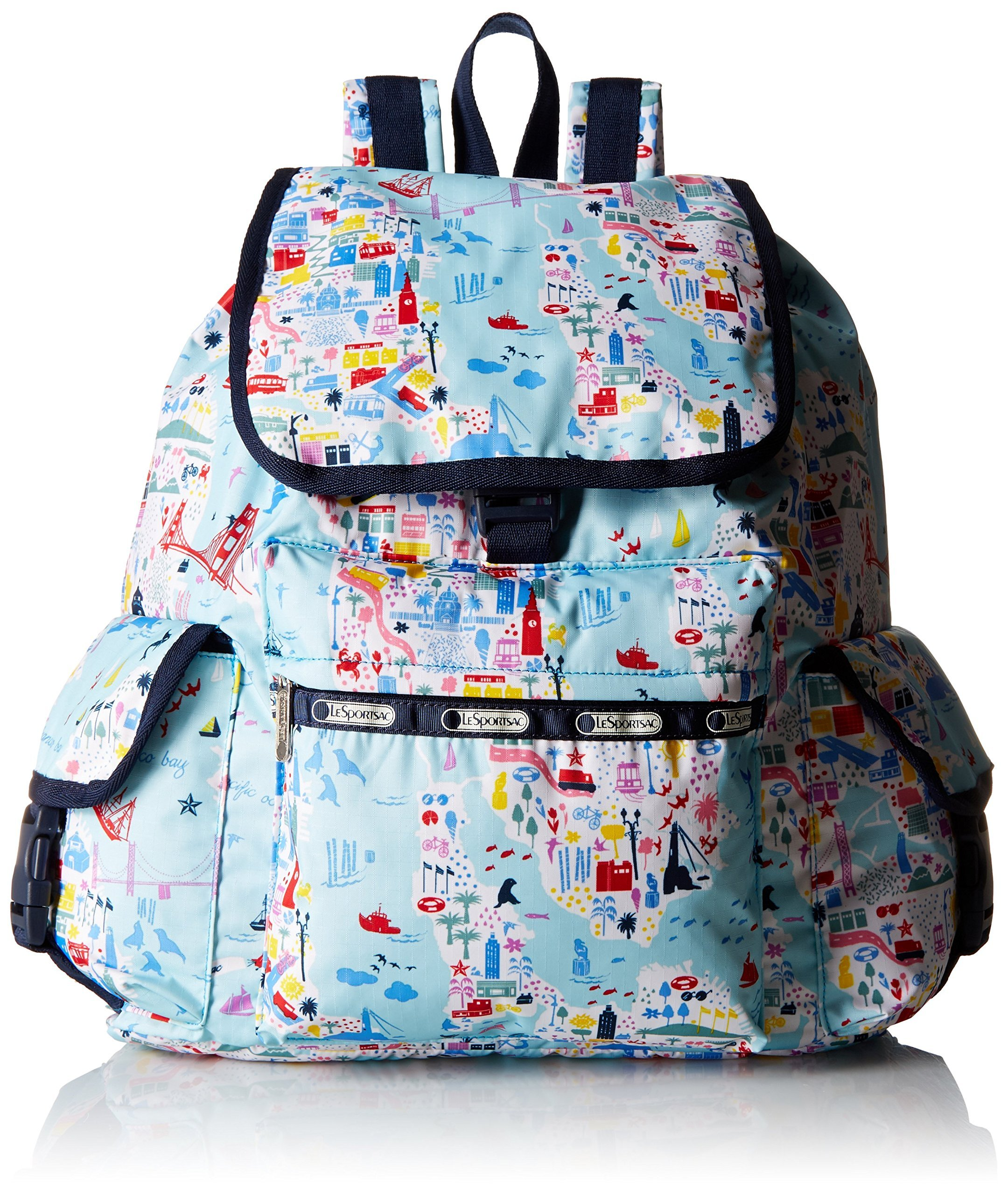 LeSportsac Voyager Back pack, Seaside Travel, One Size by LeSportsac