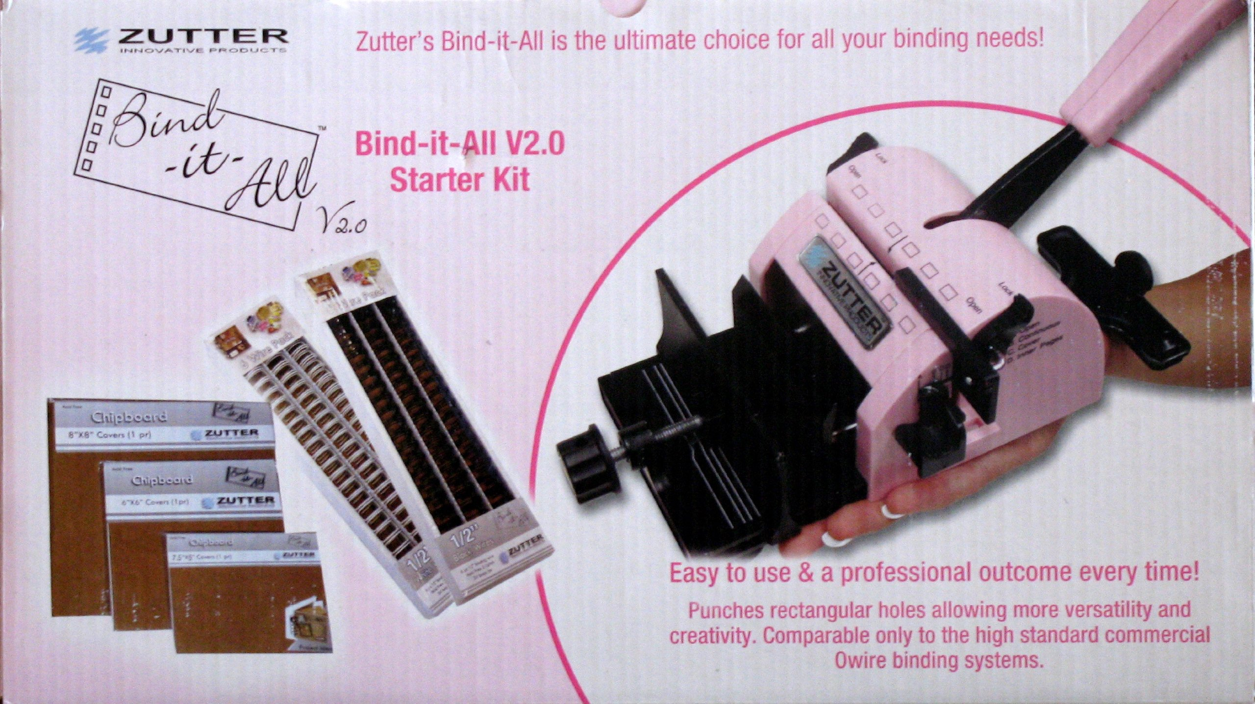 Zutter Bind-it-All Bookbinding Machine V2.0 Starter Kit #7735 by Zutter