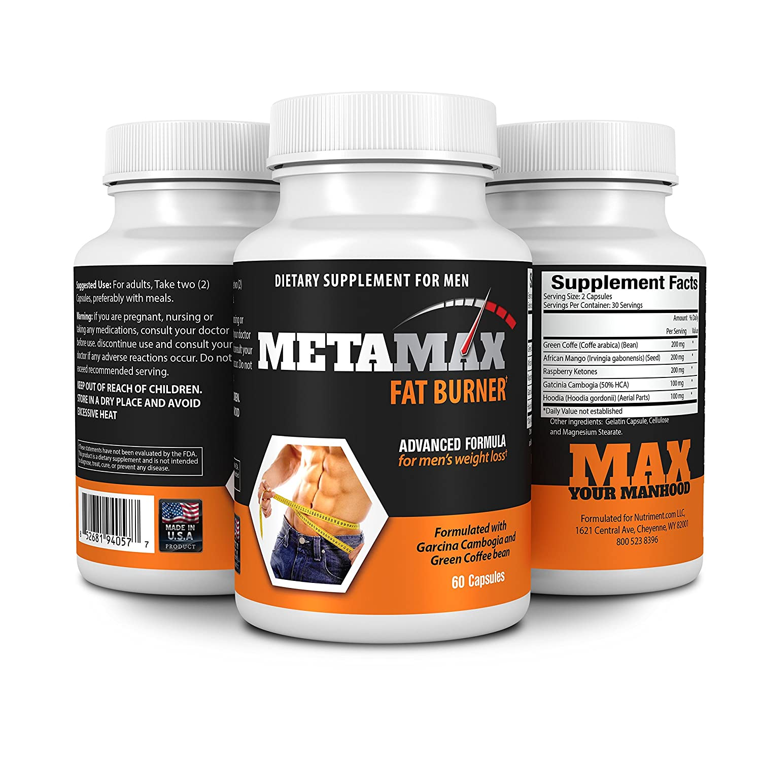 metamax mens weight loss and diet pills formulated with garcinia