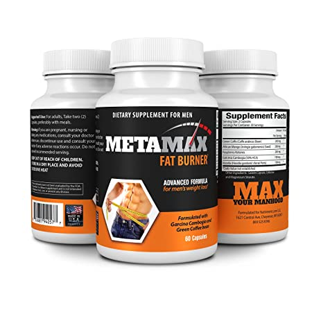 MetaMax Mens Weight Loss and Diet Pills -Formulated with Garcinia Cambogia and Green Coffee Bean – All natural formula- Burn fat not muscle and Lose weight fast Made in the USA under full compliance with all appropriate FDA regulations