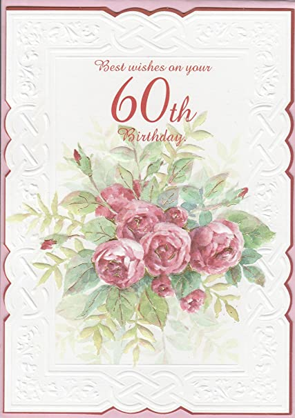 Amazon Carol Wilson 60th Birthday Greeting Card Roses