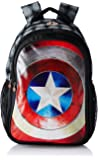 Captain America Nylon 48 cms Black Children's Backpack (Age group :8 yrs +)