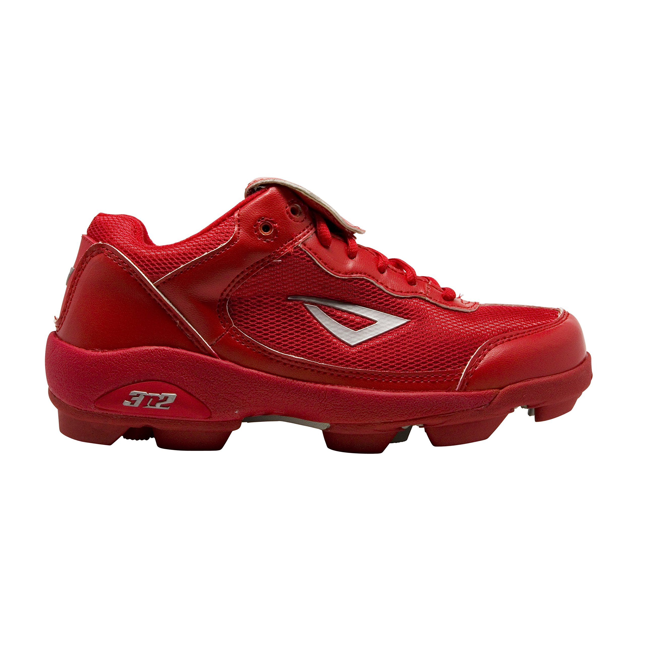 3N2 Youth Rookie Shoes, Red/Silver, Size 5.5 by 3N2