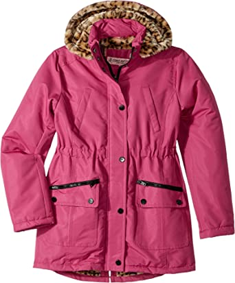 Amazon.com  Urban Republic Kids Womens Ballistic Anorak With Faux Fur  Lining (Little Kids Big Kids)  Clothing 80a0377401