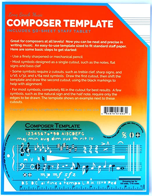 AmazonCom Song WriterS Composing Template For Music Notes