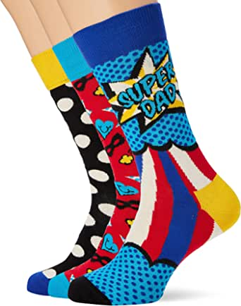 Happy Socks Father's Day Gift Box Calcetines (Pack de 3) para Hombre