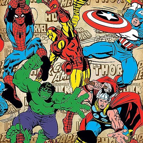 superhero wallpaper amazon co uk