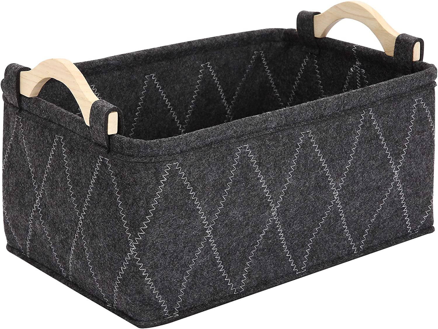 Brabtod Felt pet Toy Box and Dog Toy Storage Baskets Bin, Perfect for organizing pet Toys, Blankets, leashes and Food