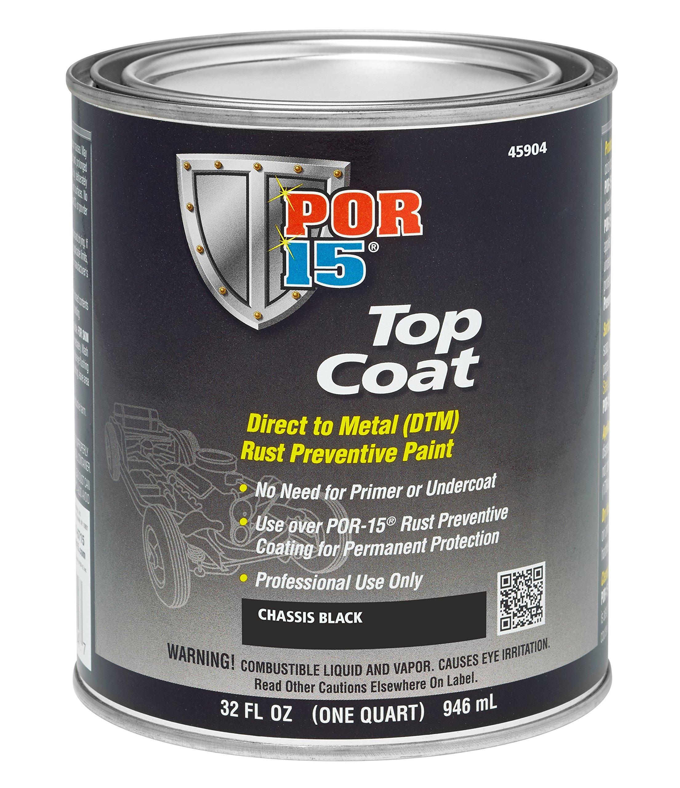 POR-15 (45904 Top Coat Chassis Black - 1 Quart