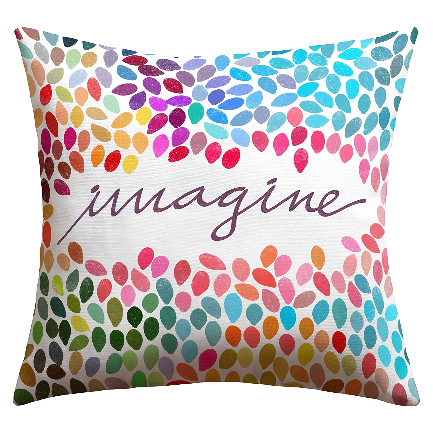 Amazon.com : Deny Designs Garima Dhawan Imagine 1 Outdoor Throw Pillow, 18  X 18 : Patio Furniture Pillows : Garden U0026 Outdoor