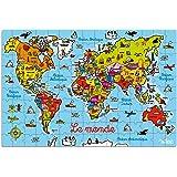 Vilac 2604 - Puzle de mapa del mundo en maletín (150 piezas)