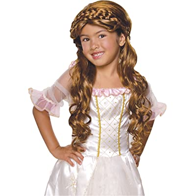 Rubie's Enchanted Princess Child's Costume Wig, Brunette: Toys & Games