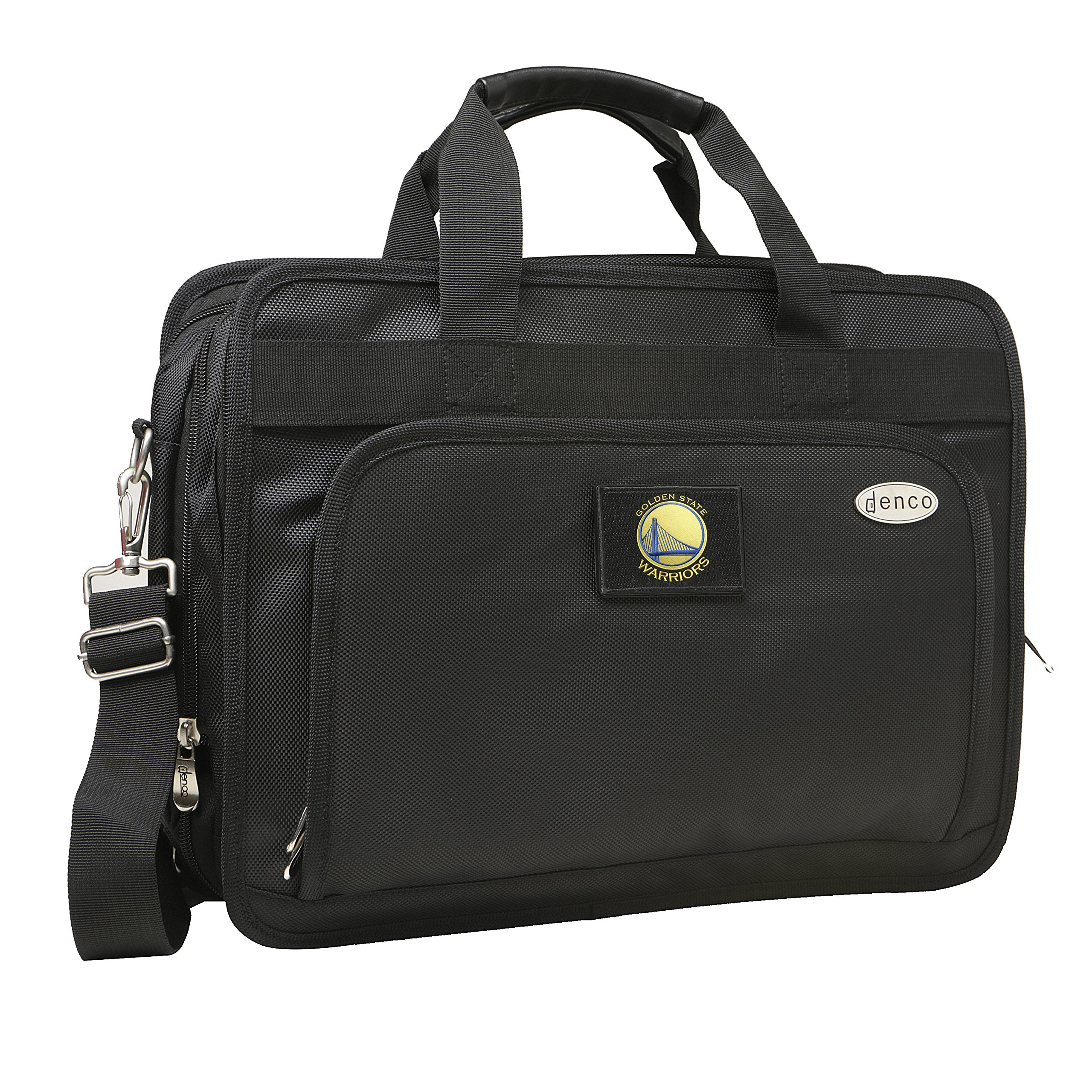 NBA Golden State Warriors Expandable Laptop Briefcase, 13-Inch, Black
