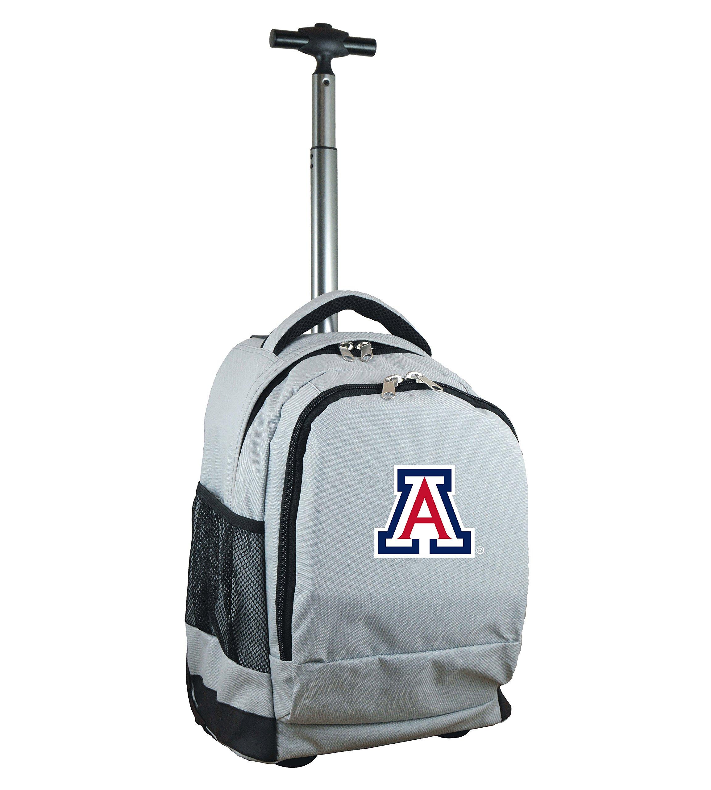 Denco NCAA Arizona Wildcats Expedition Wheeled Backpack, 19-inches, Grey by Denco (Image #1)