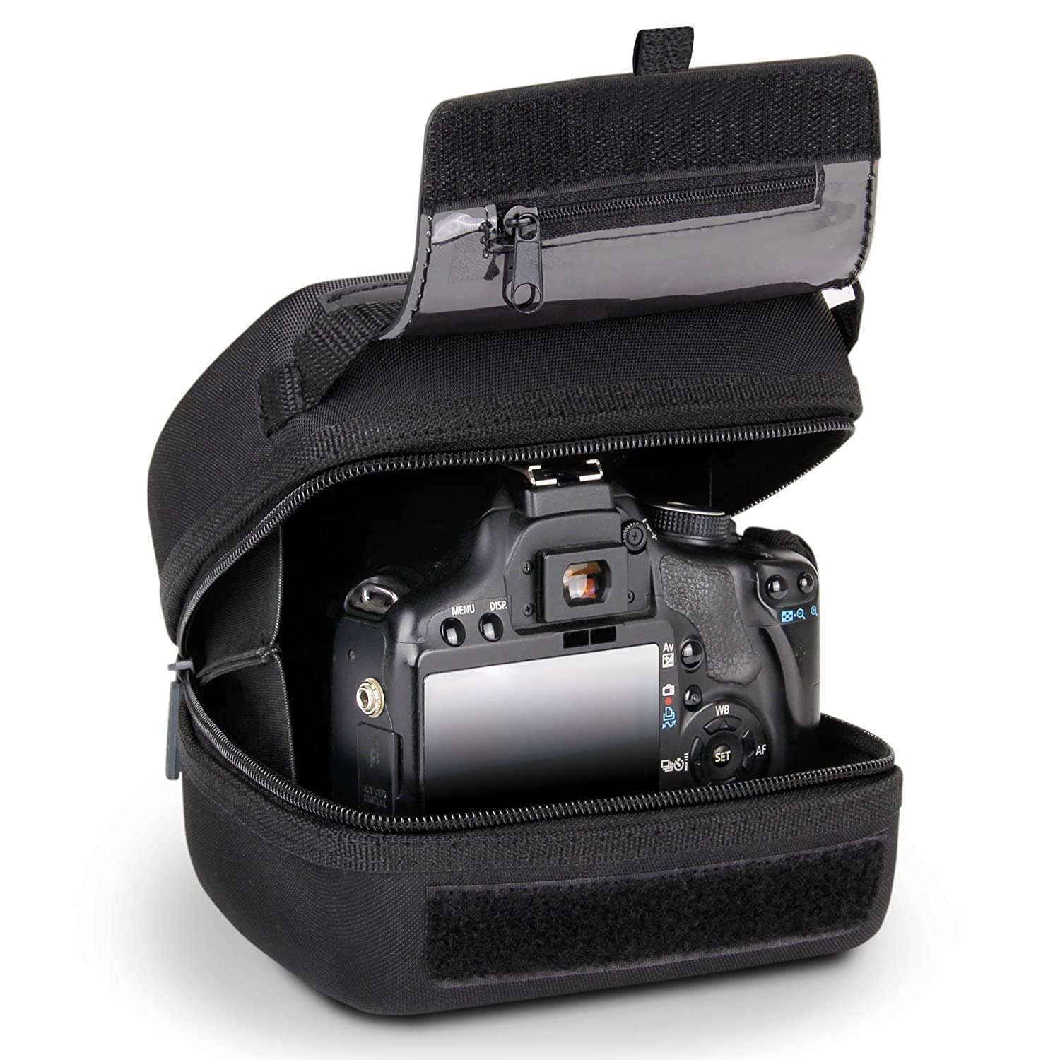 USA GEAR Quick Access DSLR Hard Shell Camera Case (Black) with Molded EVA  Protection a4a231b493943