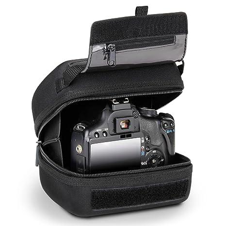 Funda para cámara réflex de Acceso rápido con protección EVA Moldeada, Interior Acolchado, Enganche de cinturón y asa recubierta de Goma de USA Gear - ...