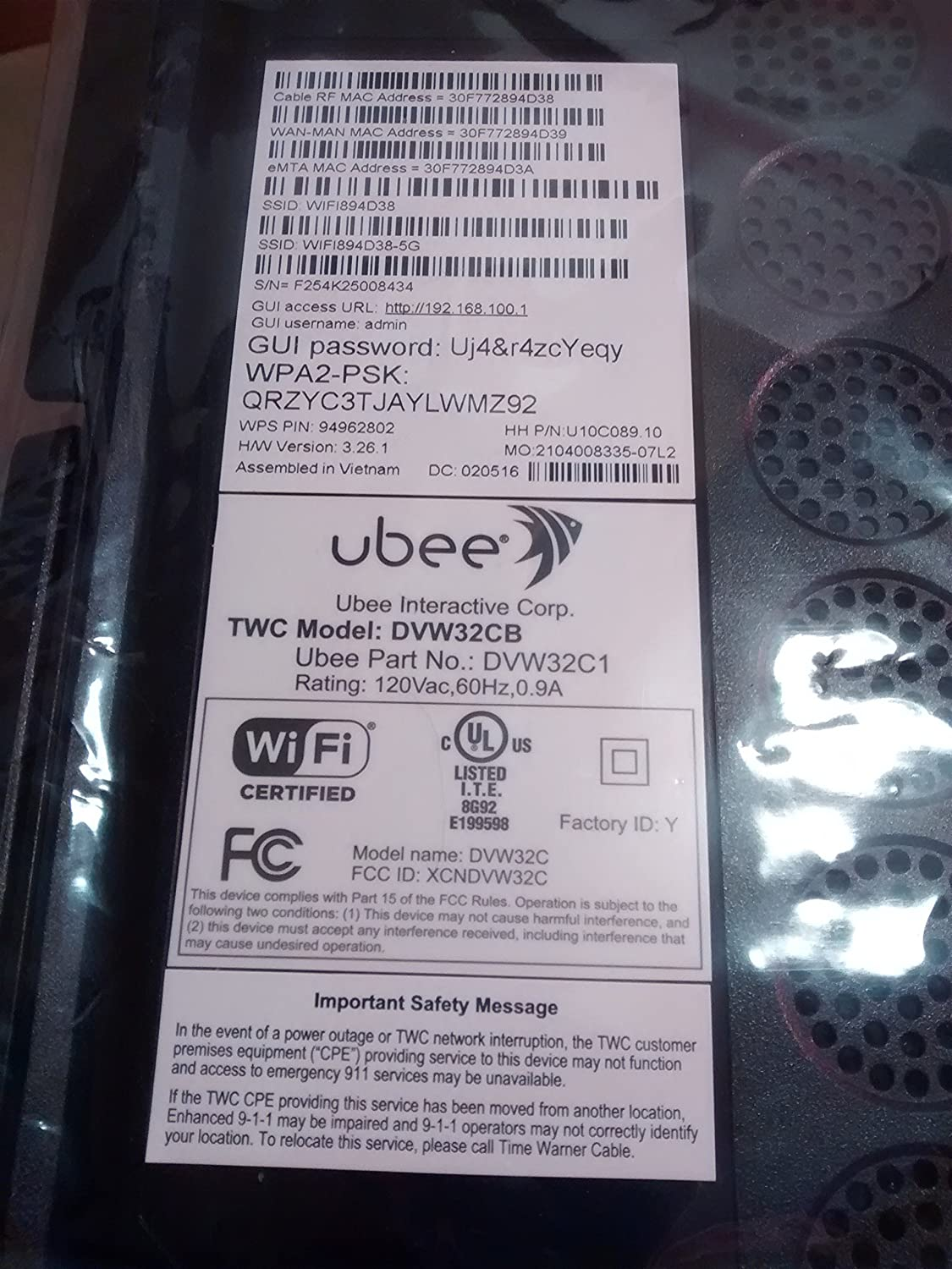 Ubee Modem Mac Address | Ritchie