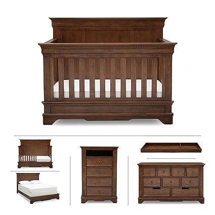 Amazon Com Baby Nursery Furniture Set In Brown Antique