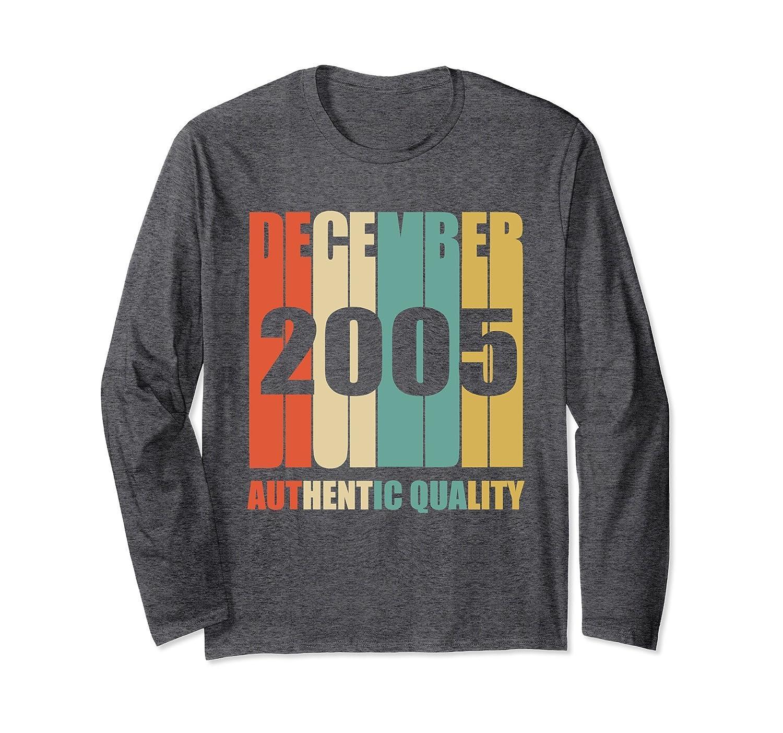 Vintage December 2005 Long Sleeve 12th Birthday Gift Shirt-Rose