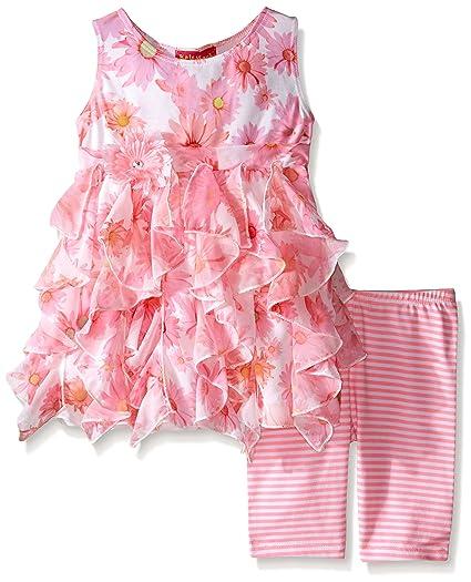 338fee642ceb Amazon.com  Kate Mack Little Girls  Toddler Dottie Daisy Tunic and ...