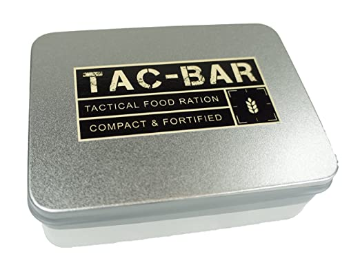 Tac-Bar Ready to Eat Tactical Food Rations for 5 Days (12,500cals) with 10 Aquatab 17 mg Water Purification Tablets - Free Survival Kit best protein bar