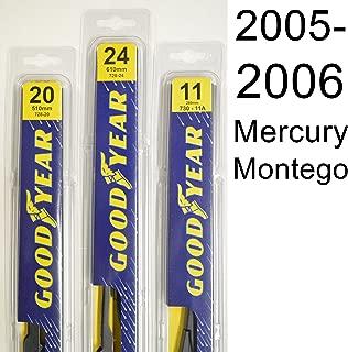 "product image for Mercury Montego (2005-2006) Wiper Blade Kit - Set Includes 24"" (Driver Side), 20"" (Passenger Side) (2 Blades Total)"