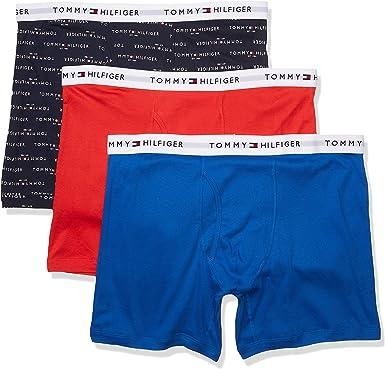 Tommy Hilfiger Mens Underwear Classic Hip Briefs 4 Pack Flag Logo Cotton New