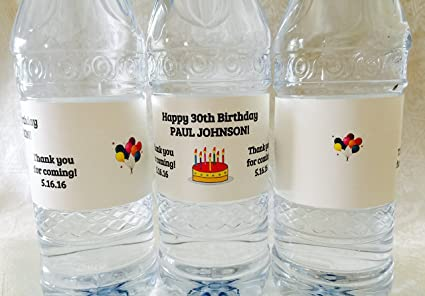 """Labels 4/""""x 2/"""" Party Favor Astronaut 1//2 Wrap 20 Among Us Birthday Water Bottle"""