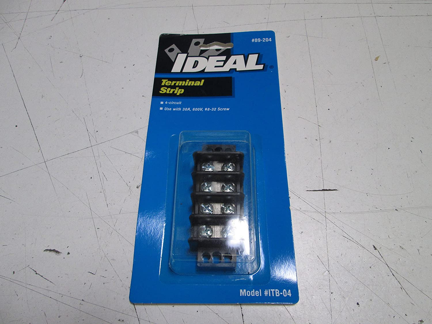 4 Poles 22 to 10 AWG Ideal 89-204 Terminal Strips Philslot Zinc Plated Steel