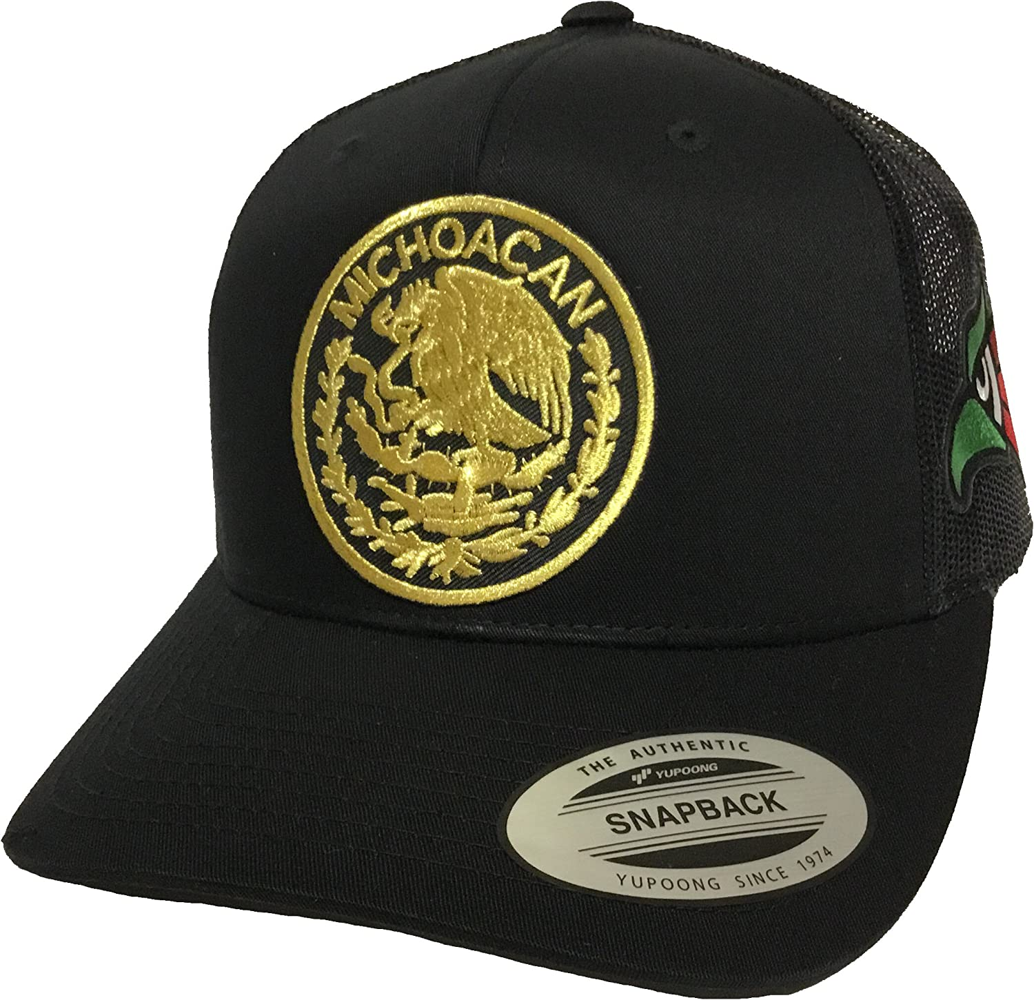 Michoacan Logo Federal 2 Logos /águila 3 Colors a lado Hat Black mesh v//d//