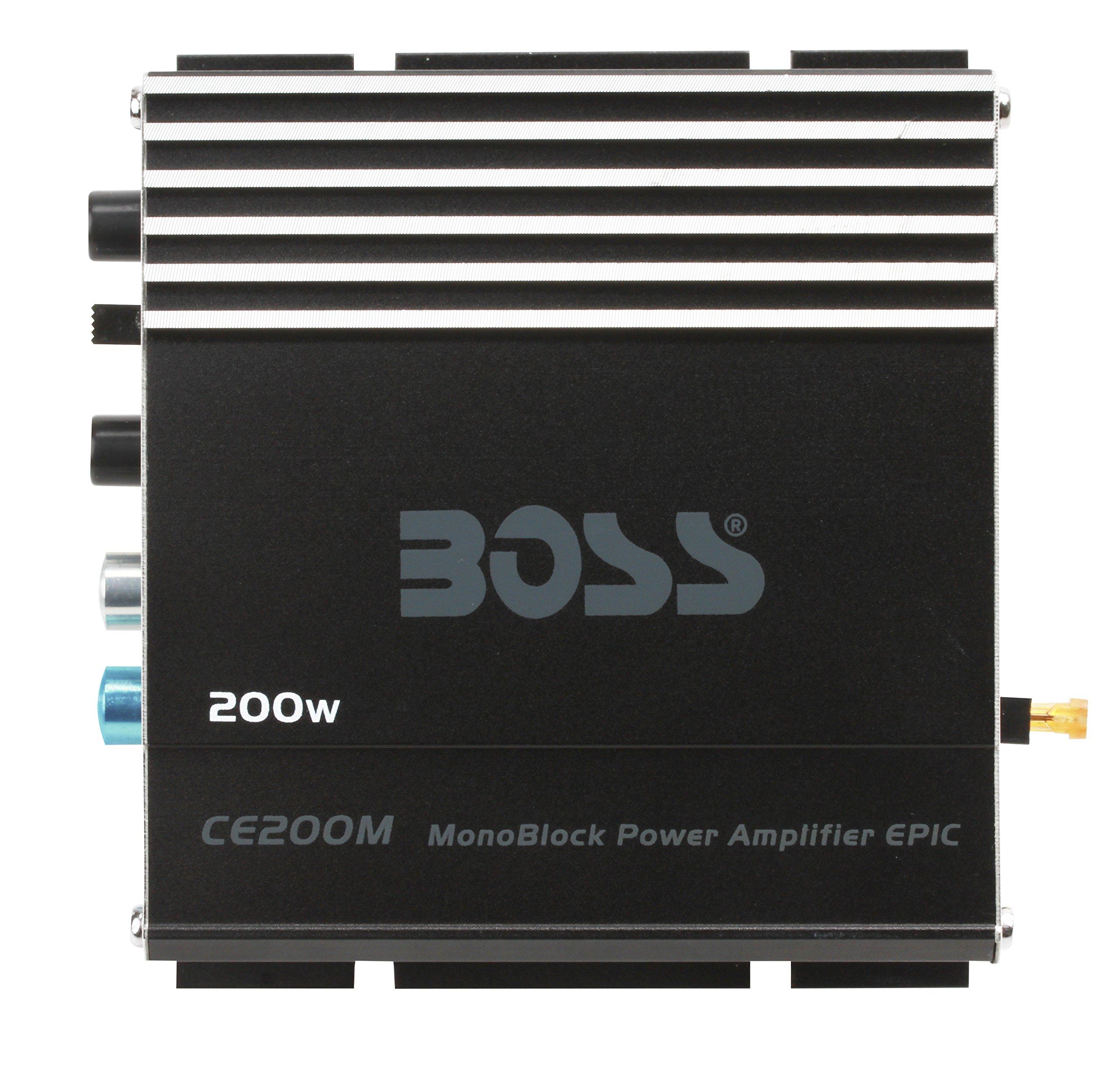 BOSS Audio CE200M Chaos Epic 200 Watt, Monoblock, 4 Ohm Stable Class A/B, MOSFET Car Amplifier