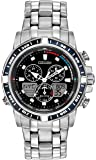 Citizen Watch Sailhawk Men's Quartz Watch with Black Dial Analogue - Digital Display and Two Tone Stainless Steel Bracelet JR4051-54L
