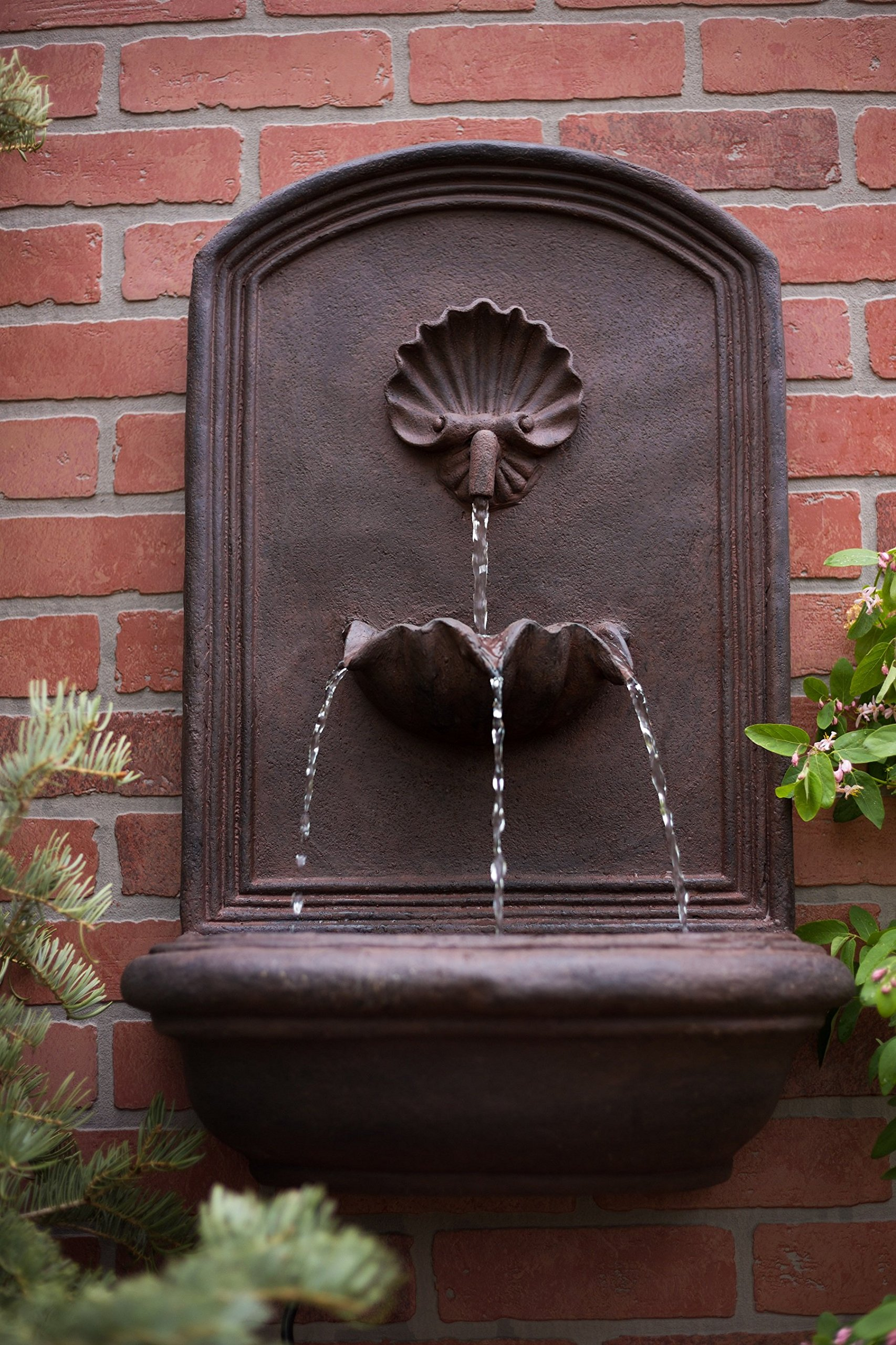 The Napoli - Outdoor Wall Fountain - Weathered Bronze - Water Feature for Garden, Patio and Landscape Enhancement by Harmony Fountains