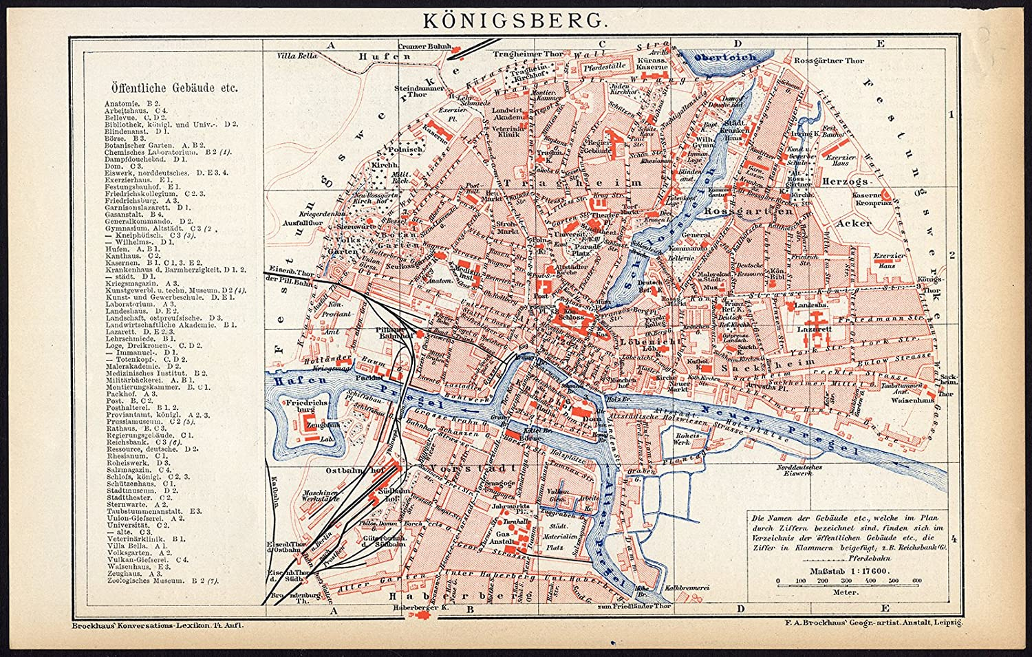 Amazon.com: Antique Map-KONIGSBERG-KALININGRAD-RUSSIA-Brockhaus-1893 on russia and the former soviet union map, russia moscow on map, russia hungary on map, tatarstan russia map, russia lake onega on map, novgorod russia map, russia political map, russia and germany, russia lake baikal on map, russia and usa map, city of kaliningrad russia map, european separatist movements map, germany map, kaliningrad oblast map, russia st. petersburg on map,