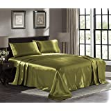 Amazon Com New Queen Size Satin Sheet Set Includes 1
