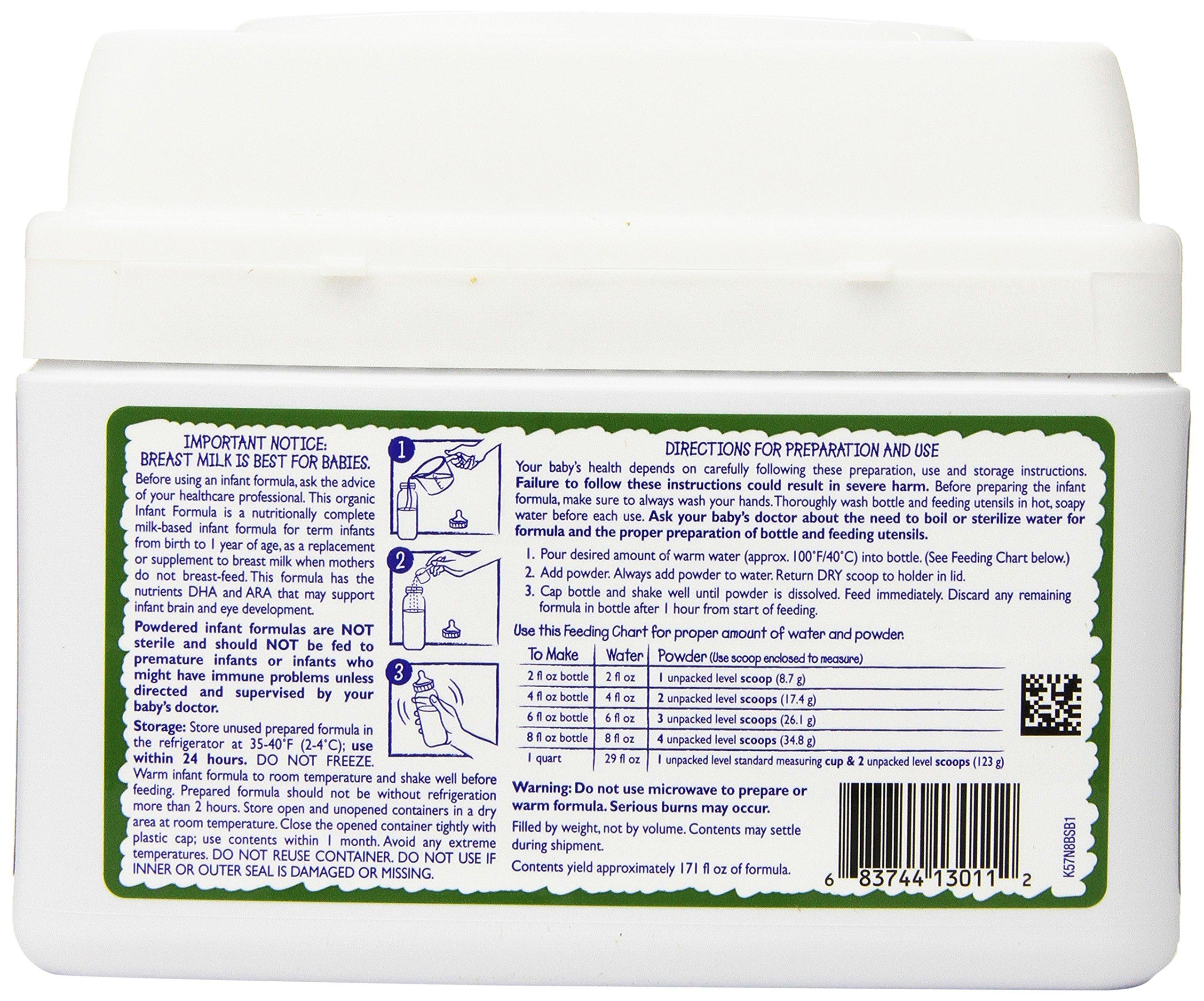 Vermont Organics Milk-Based Organic Infant Formula with Iron, 23.2 oz.  (Pack of 4) by Vermont Organics (Image #5)