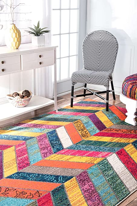 Modern Colorful Area Rug Living Room Multi Runner Rug Small X Large Carpet  Vivid Colors Contemporary