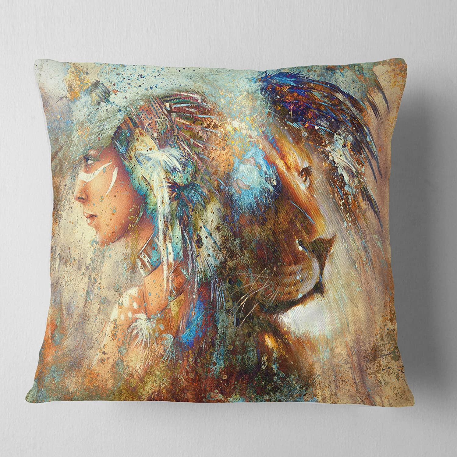 ArtVerse Katelyn Smith 26 x 26 Spun Polyester Double Sided Print with Concealed Zipper /& Insert Minnesota Outline Pillow