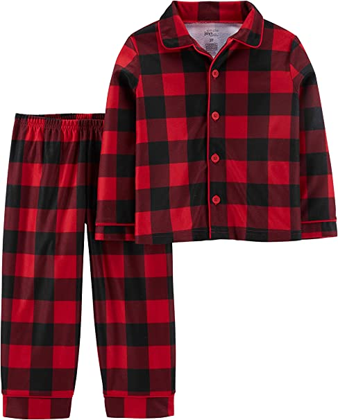 Simple Joys by Carters Baby and Toddler Boys 2-Piece Coat Style Pajama Set