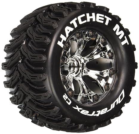 Monster Truck Tires >> Amazon Com Hatchet Mt 2 8 1 10 Rc Monster Truck Tires With Foam