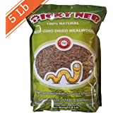 100% Non-GMO Dried Mealworms - High-Protein Mealworm Treats - Perfect for Your Chickens, Ducks, Wild birds, Turtles, Hamsters, Fish, and Hedgehogs