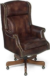 Hooker Furniture Merlin Executive Swivel Tilt Chair, Brown