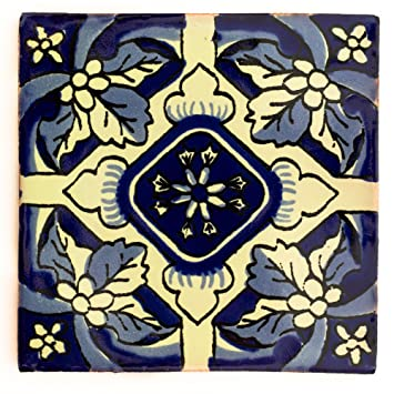 Azulejo individual Azulejos Mexicanos Artesanales de Talavera de 10.5cm