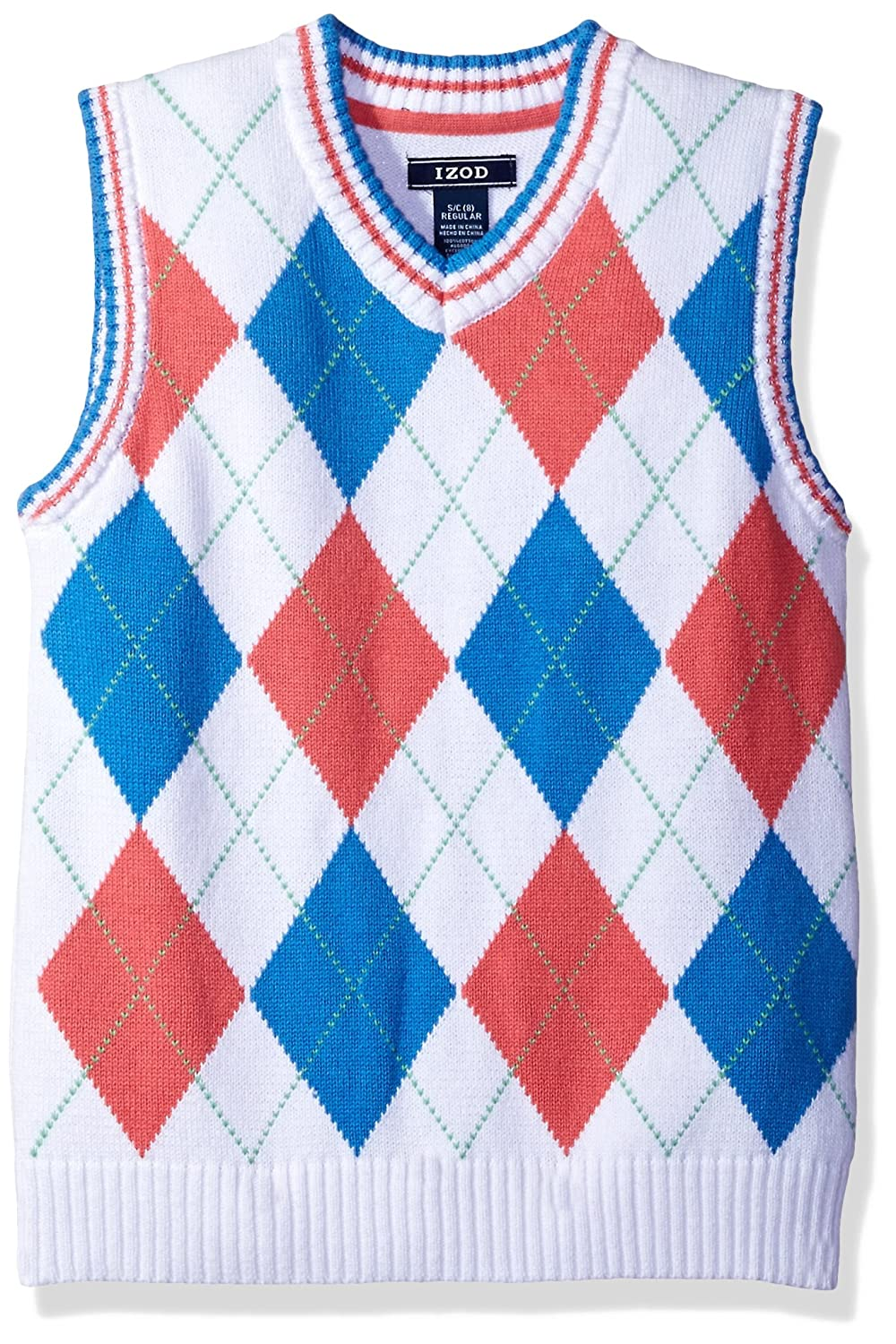 IZOD Boys' Big Sweater Vest Dark Blue Small IZOD Children's Apparel Z813084W