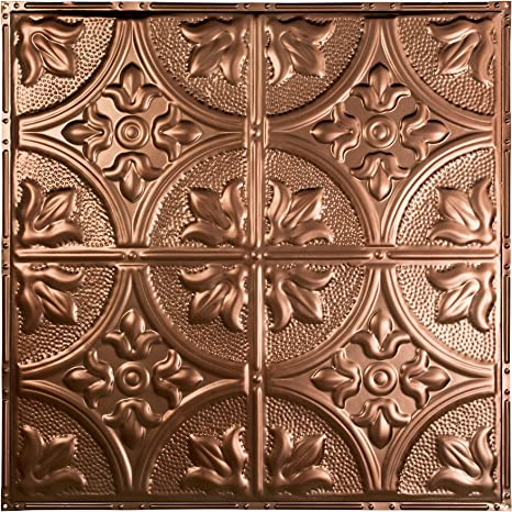 Great Lakes Tin Jamestown Vintage Bronze Nail Up Ceiling Tiles Package Of Five 2ft X 2ft Panels Choose From 11 Styles Perfect For Diy And Home Renovation Projects