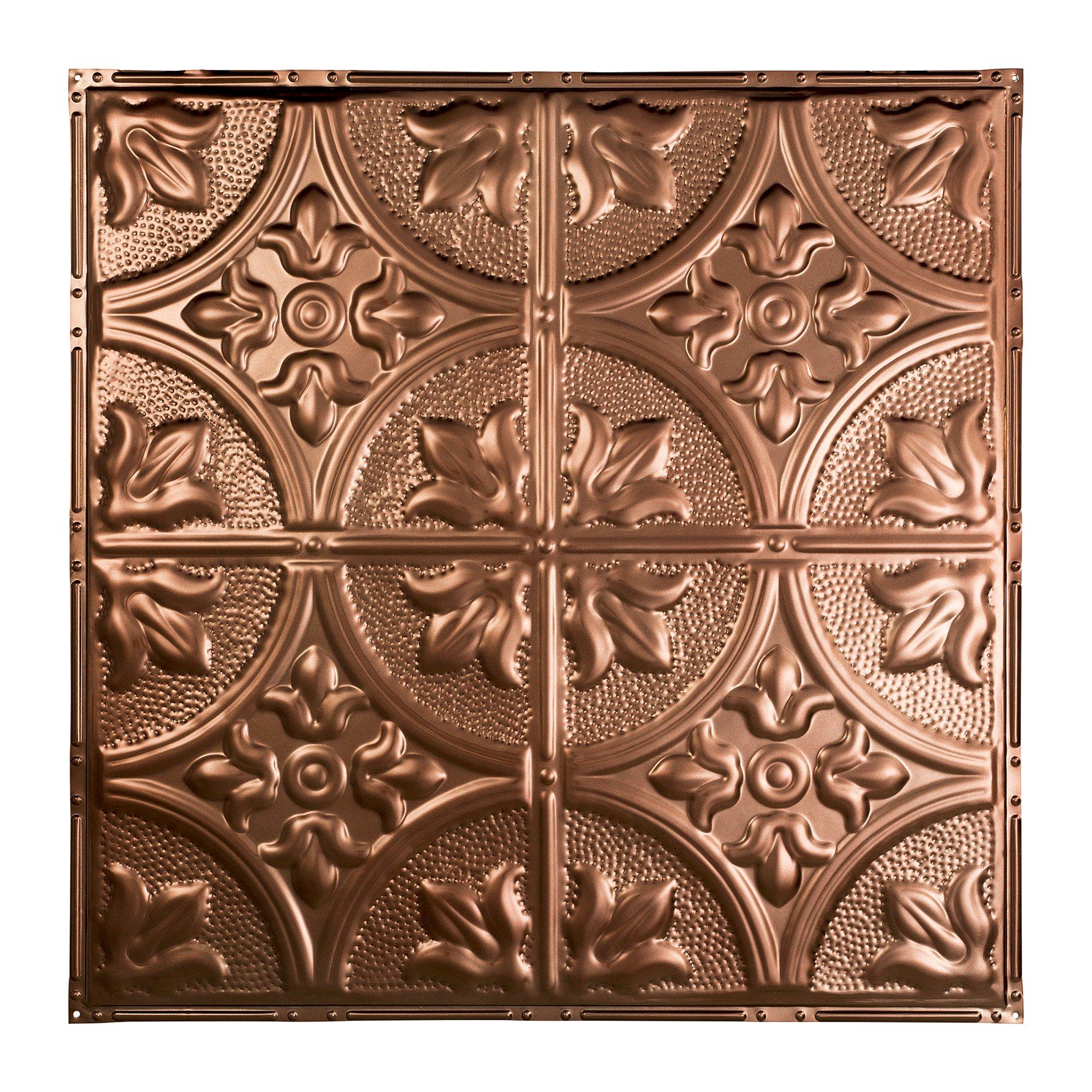 Great Lakes Tin Jamestown Vintage Bronze 2ft x 2ft Nail-Up Ceiling Tile (Carton of 5)