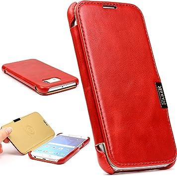 Urcover Funda Protectora Galaxy S6, ICARER Protector Cover Carcasa para Móvil Estuche de Eco- Cuero Cartera [Card Tarjeta Slot] Cubierta Wallet para Samsung Galaxy S6 5,1