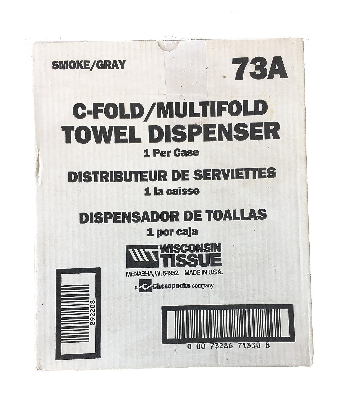 Amazon.com: Wisconsin Tissue C-Fold/Multifold Smoke/Gray Paper Towel Dispenser: Home & Kitchen